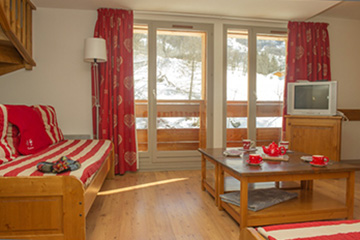 Residence Valloire - Le hameau de Valloire - Vacanceole - 2 bedrooms duplex apartment, sleeps 7